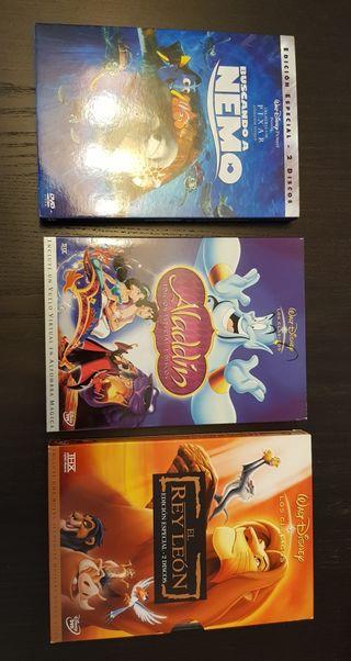 El Rey Leon, Aladin, Nemo DVD edicion especial