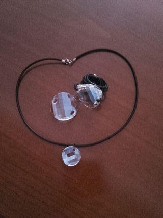 gargantilla y anillo de Swarovski