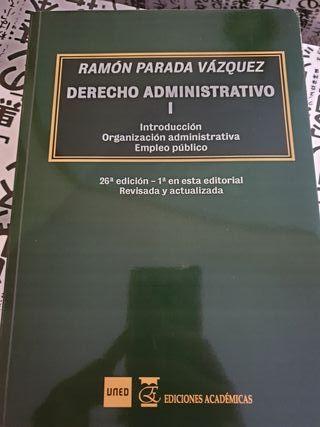 Libro de derecho administrativo I de la UNED