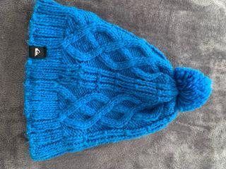 Gorro azul lana y polartec QUICKSILVER