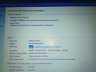 "Ordenador portátil HP 630 i3/4GB/500GB/15.6"""