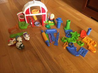 Granja plástilina Play-Doh y dos plastilina