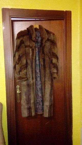 abrigo de pelo piel de nutria