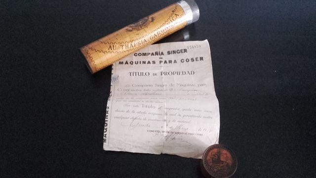 MAQUINA DE COSER SINGER 1928 CON CONTRATO DE COMPR