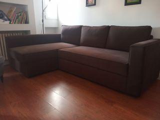Sofá cama 3 plazas chaise longue con almacenaje