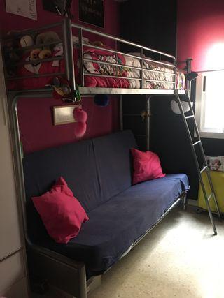 Litera con sofá-cama