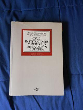libro Instituciones y Derecho de la Unión Europea.