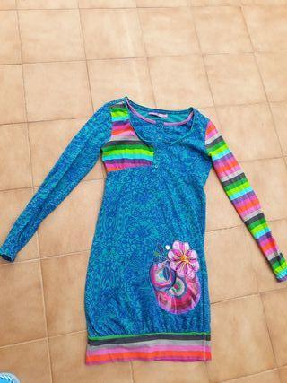 vestido niña DESIGUAL talla 9/10 años