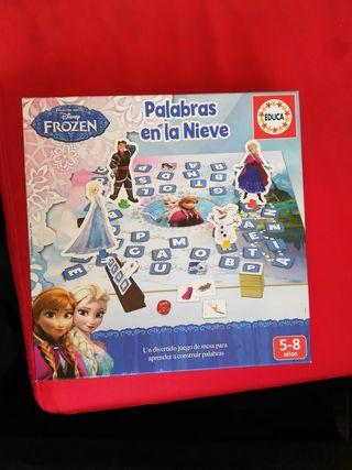 Juego de mesa palabras en la nieve Frozen