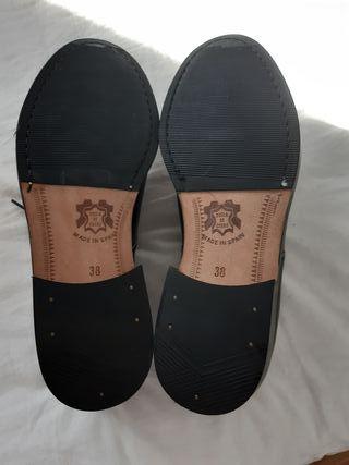 zapatos colegio o comunión de piel