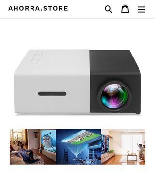 Mini proyector portátil para ver series y pelis