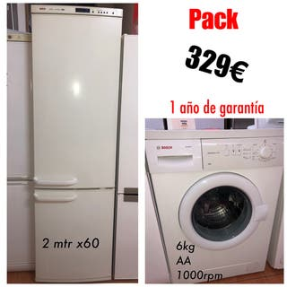 Frigorífico 2mtr alto y lavadora 6kg Bosc garantia