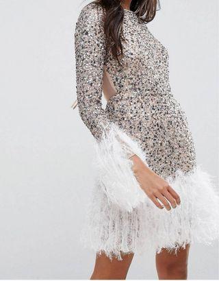 vestido Lentejuelas asos