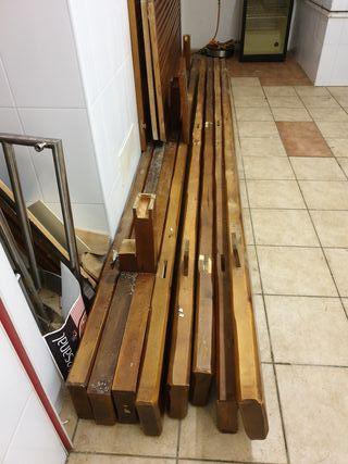 Columnas madera maciza