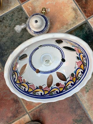 Lámpara techo de cerámica