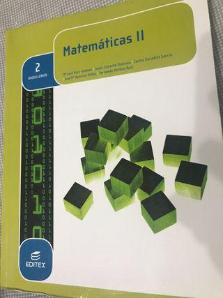 Libro de Matemáticas II, 2ºBachillerato
