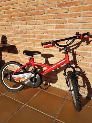 Bicicleta niño 16 pulgadas (5 años).
