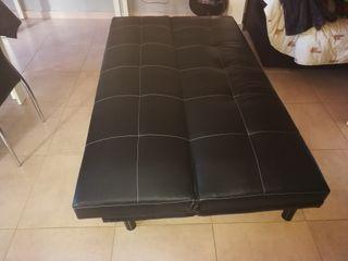 Sofá cama poli piel color negro
