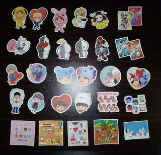 Set de sticker pegatinas random BTS