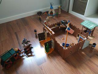 Lote de Playmobil Fuerte Oeste y Castillo Medieval