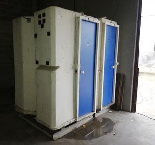 modulo sanitario y vestidor con ducha portatiles