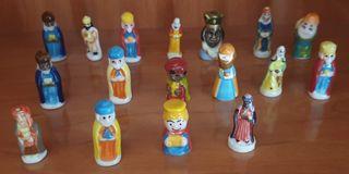 Lote de 17 figuras de Navidad