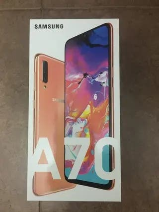 Galaxy A70 color coral nuevo a estrenar