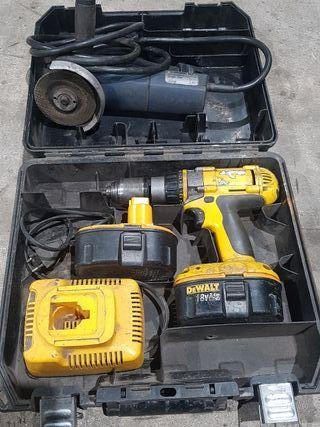 taladro bateria y radial