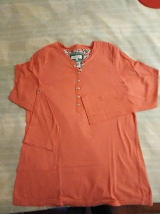 Camiseta talla L manga larga algodón