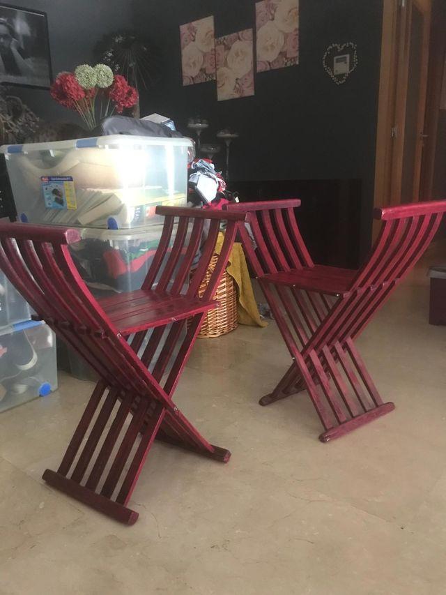 Banquetas de madera plegables