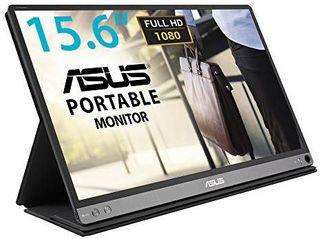 monitor portátil con conector USB tipo C o tipo A.