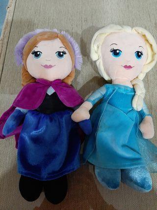 peluches Frozen y Elsa