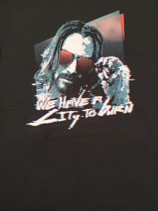 Camiseta Keanu Cyberpunk - We have a city to burn