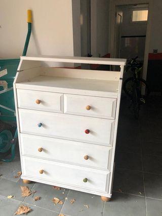 mueble cambiador bebés
