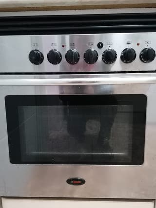 Placa de vitro cerámica y horno.