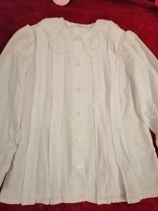 2 camisas niña con vainilla talla 8