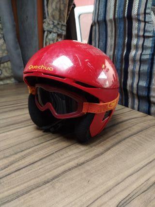 casco esquí niño y gafas