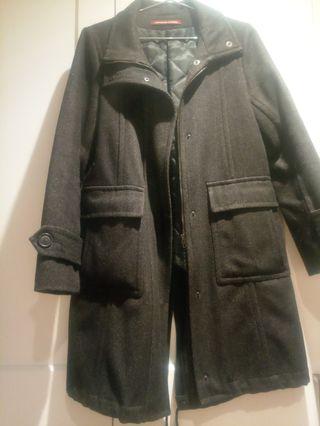 Comptoir des Cotonniers abrigo parka lana espiga
