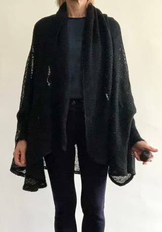 veste cape noire ingrid Munt série limitée 14/46 T