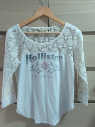 Camiseta chica manga larga Hollister