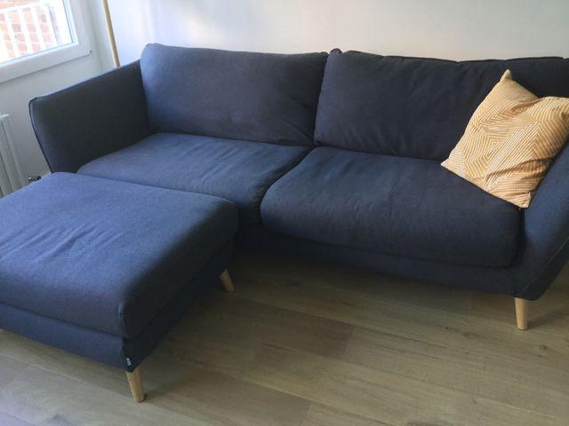 Sofá y puf Sits
