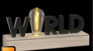 Decoración luminosa madera