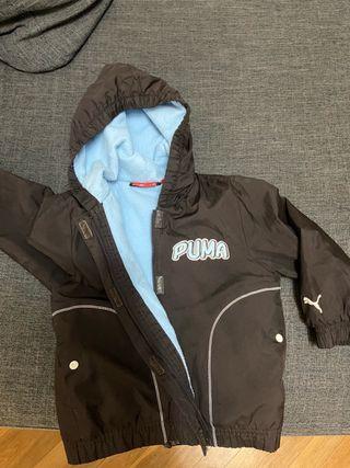 abrigo niño puma