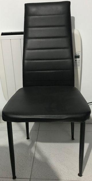 Sillas comedor color negro