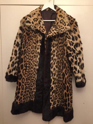 Abrigo piel leopardo