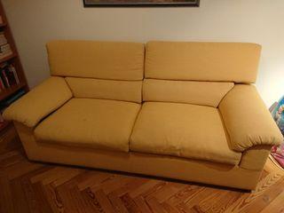 Sofá - cama Chenilla color mostaza