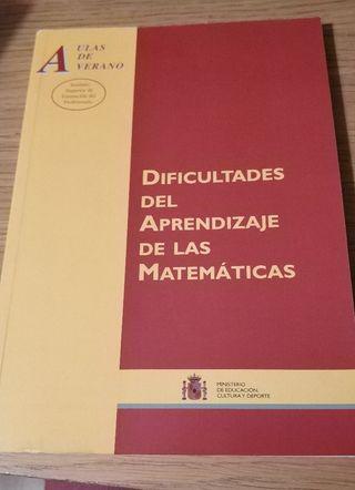 Dificultades del aprendizaje de las Matemáticas