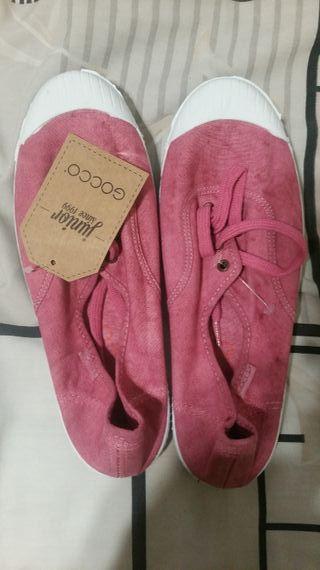 Zapatillas de lona rosa