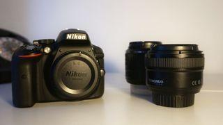 Cámara Nikon d5300 + 18-55mm 3.5 + 50mm 1.8