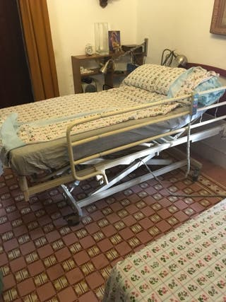 Cama Articulada y reclinable, con colchón.